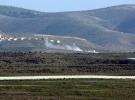 Afrin'e ilerlemeye çalışan terörist gruplar topçu ateşi üzerine geri çekildi