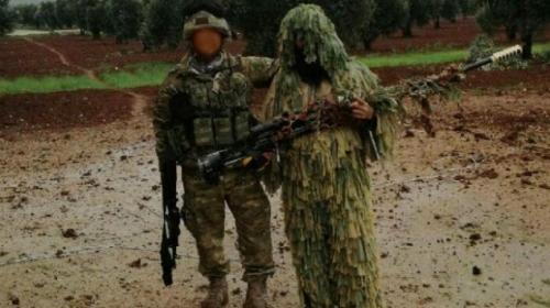 Afrinde teröristlerden ele geçirilen silahlar ÖSOda