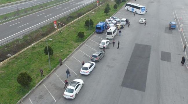 Anadolu Otoyolunda drone destekli yol uygulaması