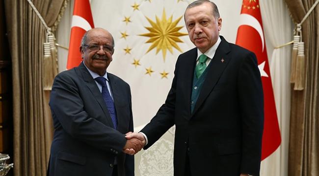Cumhurbaşkanı Erdoğan, Cezayir Dışişleri Bakanı Mesahili kabul etti