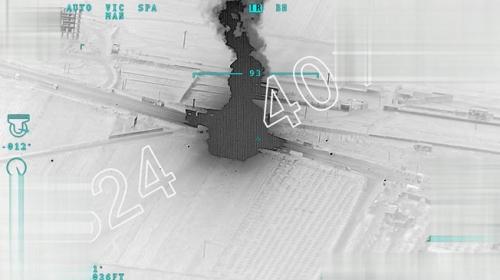 TSK'nın Afrin'e mühimmat götüren terör örgütü konvoyunu vurduğu anlar