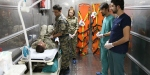 TSKdan sınıra seyyar ilk yardım hastanesi