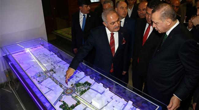 Cumhurbaşkanı Erdoğan, Osmaniye Belediyesini ziyaret etti