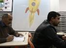 Gaziantep'teki bu okulda veliler de sınava giriyor