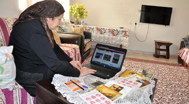Kitaplar yazan çiftçi, web tasarımına başladı
