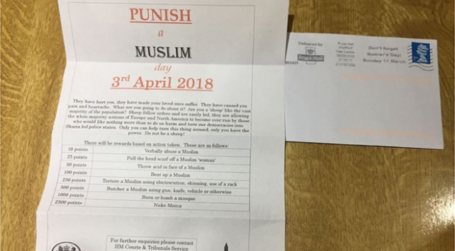 İngilterede İslamofobik mektuba inceleme