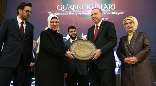 """Cumhurbaşkanı Erdoğan, """"Gurbet Kuşları"""" belgeselinin galasına katıldı"""