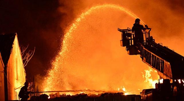 Çanakkalede sebze halinde büyük yangın