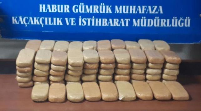 Haburdan zehir tacirlerine geçit yok: 55 kilo uyuşturucu ele geçirildi