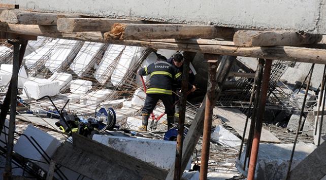 Kahramanmaraşta inşaat çöktü: 2 ölü, 5 yaralı