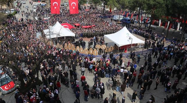Afrin şehidi Kart ile Ağrı şehidi Koçu son yolculuğuna on binler uğurladı