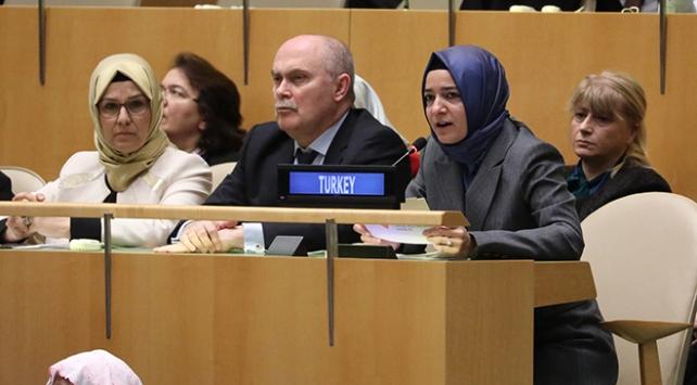 Aile ve Sosyal Politikalar Bakanı Kaya, BM Genel Kuruluna seslendi