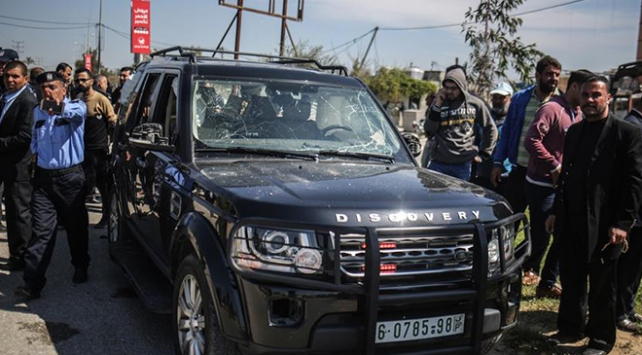 Filistin Başbakanı Hamdallahın konvoyuna saldırıya kınama