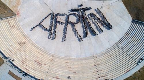 Üniversite öğrencilerinden Pi duruşuyla Afrin'e destek
