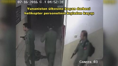 Yunanistan'a kaçan darbeci askerlerin yeni görüntüleri ortaya çıktı