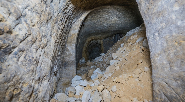Binlerce yıllık yeraltı yerleşim yeri tahrip edildi