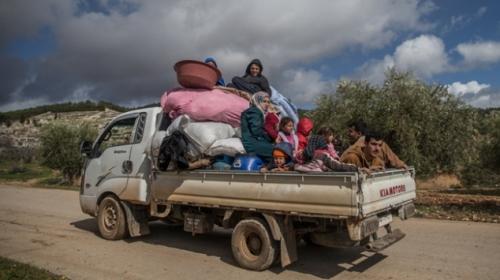 Teröristlerin zorla götürdüğü Afrinden kaçmayı başardılar