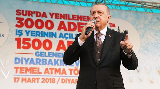 Cumhurbaşkanı Erdoğan: Afrin düştüğü anda kardeşlerimiz evlerine dönecek