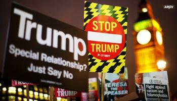 Londrada İslamofobi, Trump ve ırkçılık karşıtı protesto