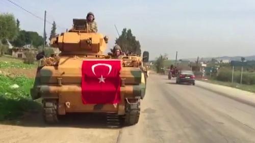 Türk tankları Afrine böyle girdi