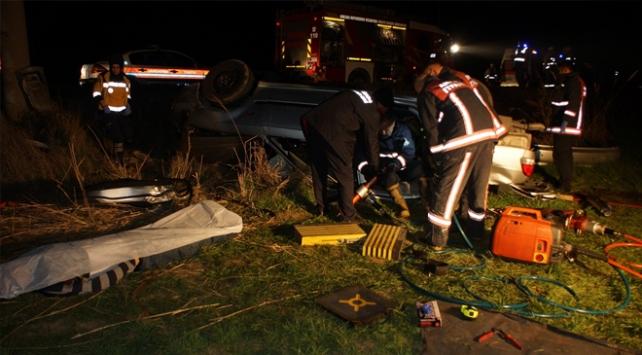 Çubukta trafik kazası: 3 ölü, 2 yaralı