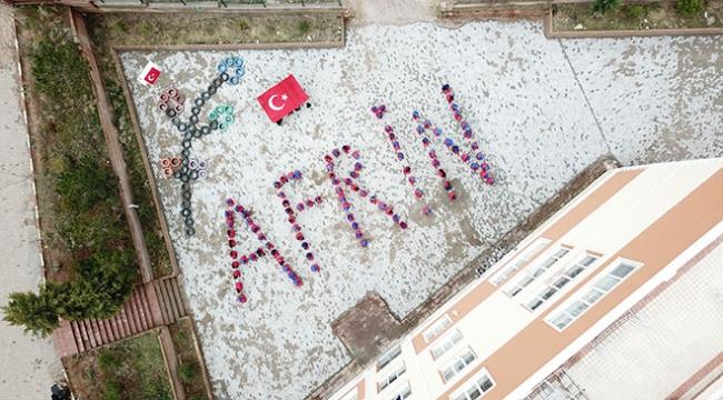 Lise öğrencilerinden anlamlı Afrin mesajı