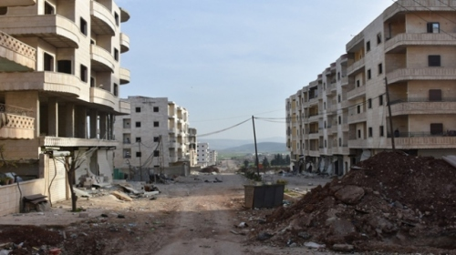 YPG/PKK'lı teröristler, Afrin'i yakıp yıkarak kaçtı