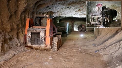 Afrin merkezinde teröristlerin kazdığı tüneller ortaya çıkarıldı