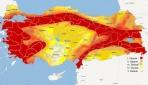 Türkiyenin yenilenen deprem haritası elektronik ortamda