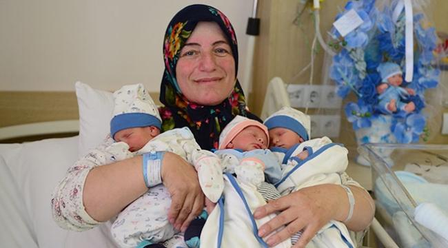 Üçüz bebeklerine Recep, Tayyip, Erdoğan ismi verdiler