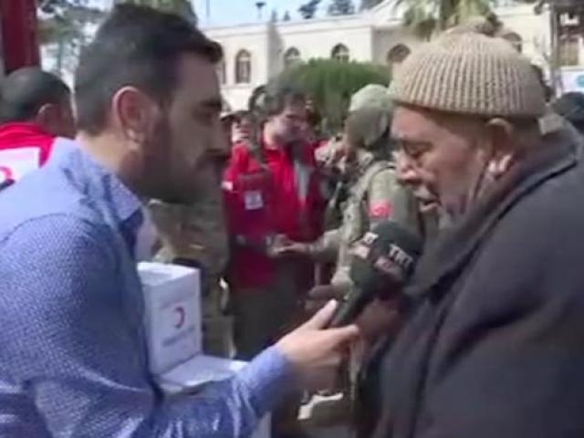 Terörden kurtarılan Afrinli vatandaş duygularını gözyaşlarıyla anlattı