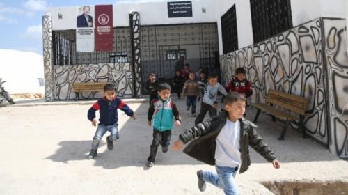 Terörden kurtarılan Afrinde okullar onarılıyor