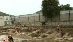 Hastane bahçesinde Roma dönemine ait buluntular ortaya çıktı