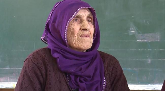 104 yaşındaki Nazile ninenin okuma azmi