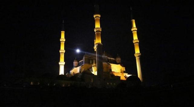 Selimiye Camisinin ışıkları Dünya Saati için kapanacak