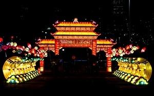 """ABDde """"Çin"""" temalı ışık şovu renkli görüntüler oluşturdu"""