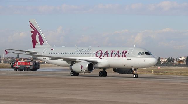 Katar-Hatay arası uçak seferleri başladı