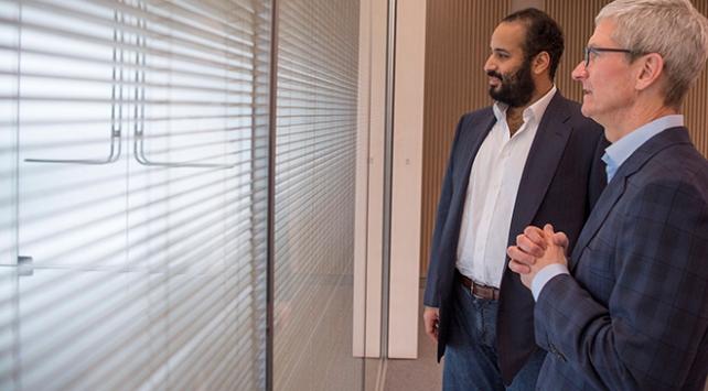 Suudi Arabistan Veliaht Prensi, Tim Cook ile bir araya geldi