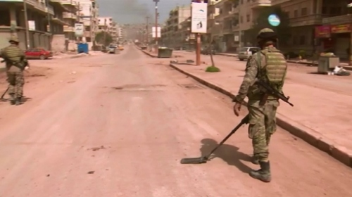 TSK ve TRT el yapımı patlayıcılara karşı Afrinlileri bilinçlendiriyor