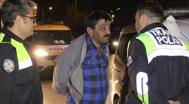 Konyada alkollü sürücü ile polis arasında kovalamaca