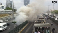 İstanbul'da Metrobüste Yangın