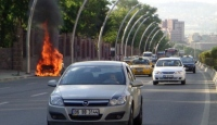 LPG'li Araç Bir Anda Alev Aldı