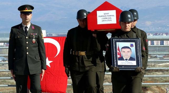 Şehit Uzman Çavuş Hamza Dursun Pampal için askeri tören düzenlendi