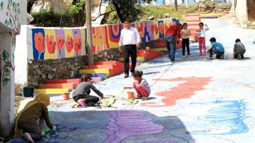 Minik yetenekler Muğla'nın sokaklarını renklendirdi