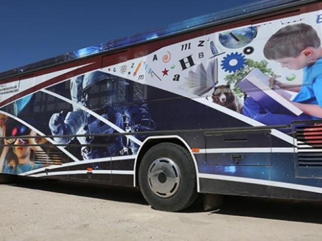 Hurda otobüs, bilim merkezine dönüştü