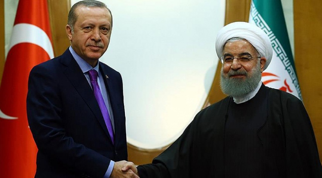 Cumhurbaşkanı Erdoğan, İranlı mevkidaşı ile Suriyeyi görüştü