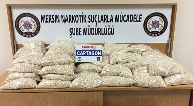 Mersinde uyuşturucu operasyonu: 528 bin hap bulundu