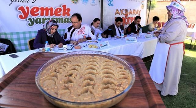 Aksarayın yöresel yemekleri yarıştı