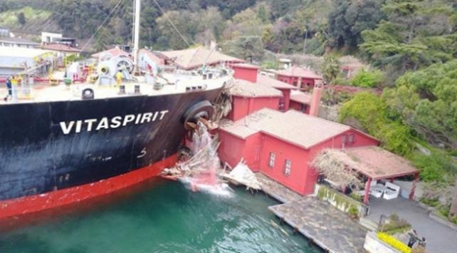 Boğazdaki yalıya çarpan geminin haczine itiraz