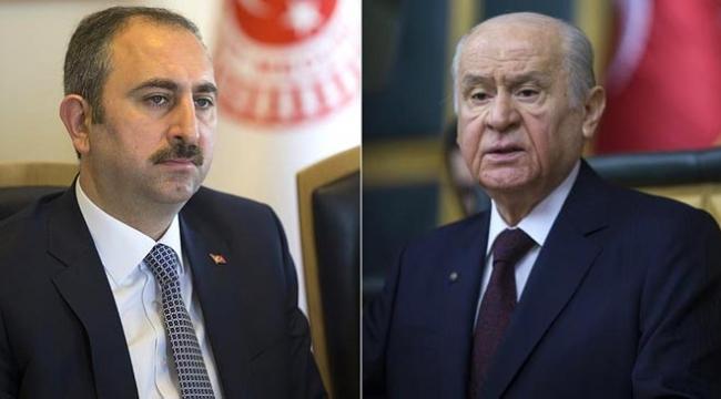 Adalet Bakanı Gül ile MHP Genel Başkanı Bahçeli görüştü
